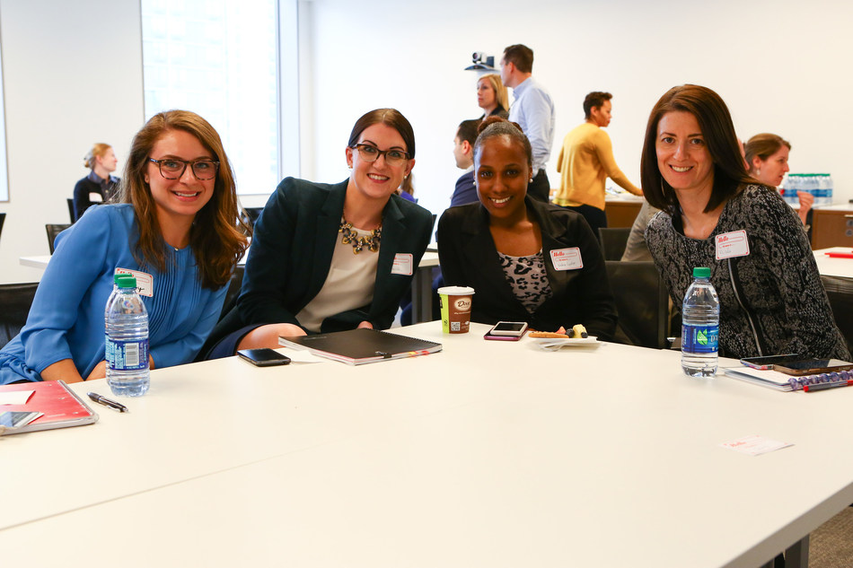 OppenheimerFunds employees participate in an event organized by the firm's Women's Network.