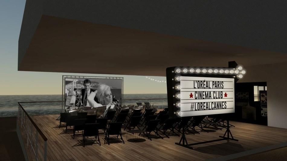 L'Oreal Paris Lights up the Big Screen with the L'Oreal Paris Outdoor Cinema open to the general public, Martinez beach (PRNewsfoto/L'Oreal Paris)
