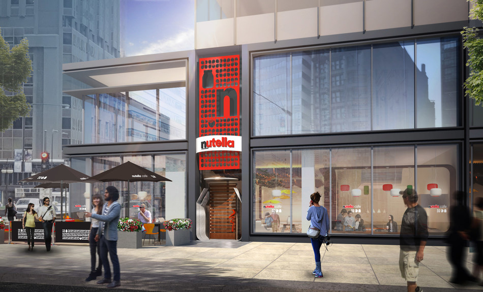 The First Nutella Cafe is just steps away from Millennium Park at 151 North Michigan Avenue