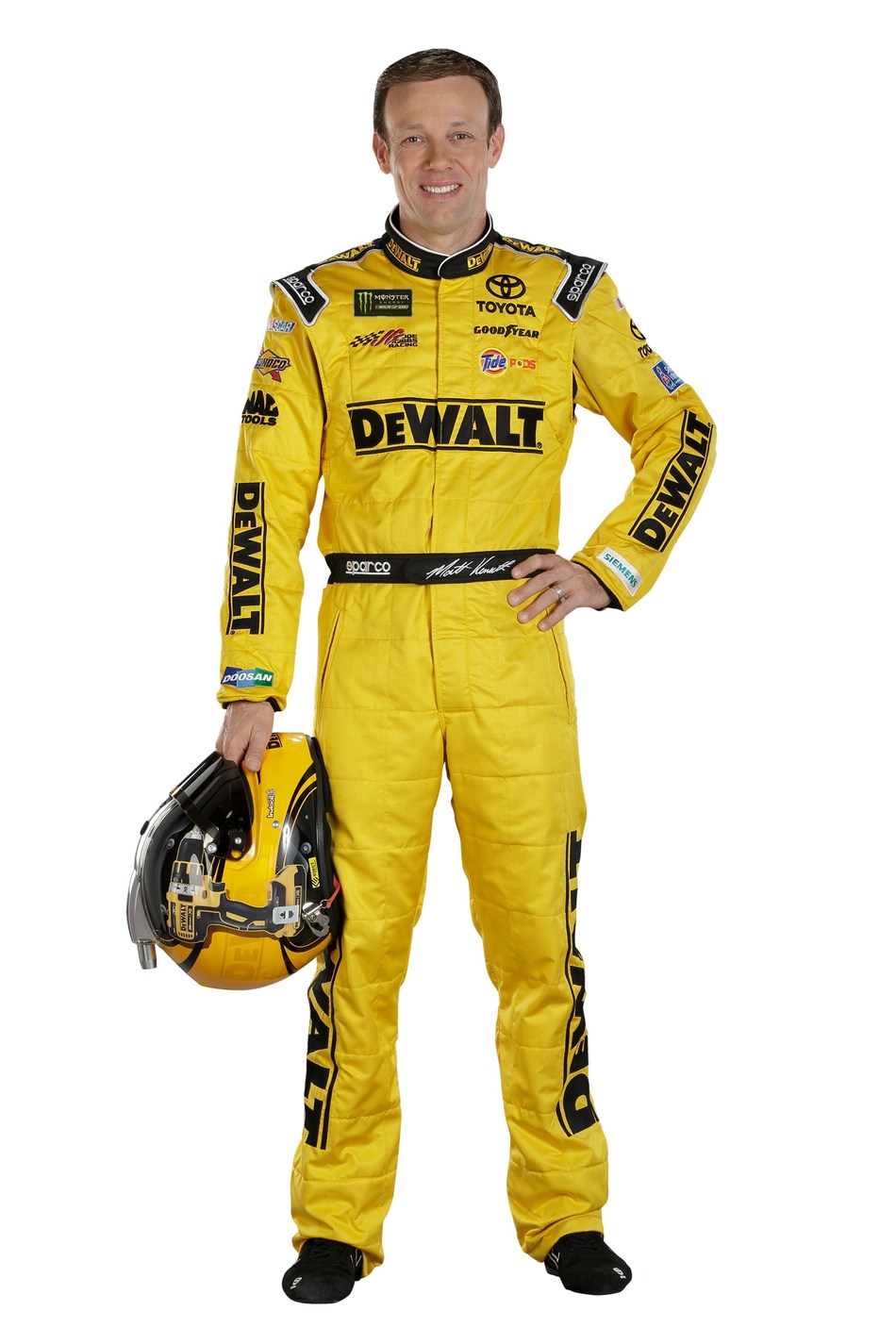 Matt Kenseth, driver of the No. 20 DEWALT Toyota car, will present a check to WWP on Saturday.