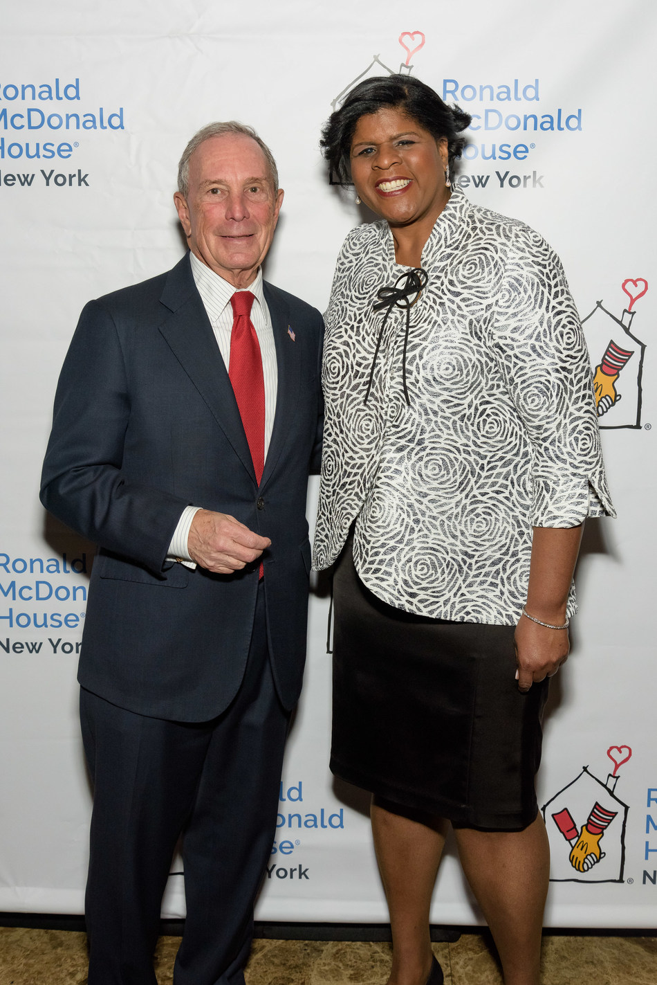Three-term Mayor of New York City and Founder of Bloomberg LP and Bloomberg Philanthropies, Michael R. Bloomberg with President & CEO of Ronald McDonald House New York, Dr. Ruth C. Browne at the 25th annual Ronald McDonald House of NY Gala.