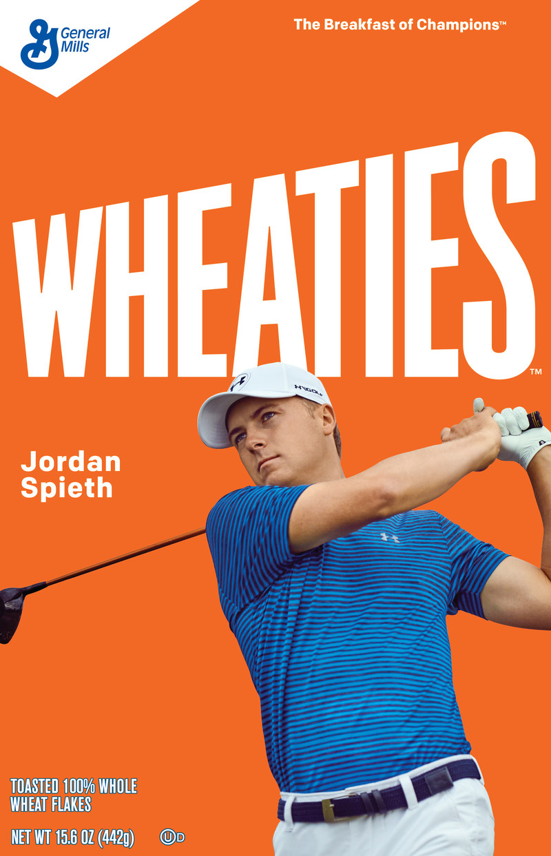 Jordan Spieth will appear on the Wheaties box this fall.