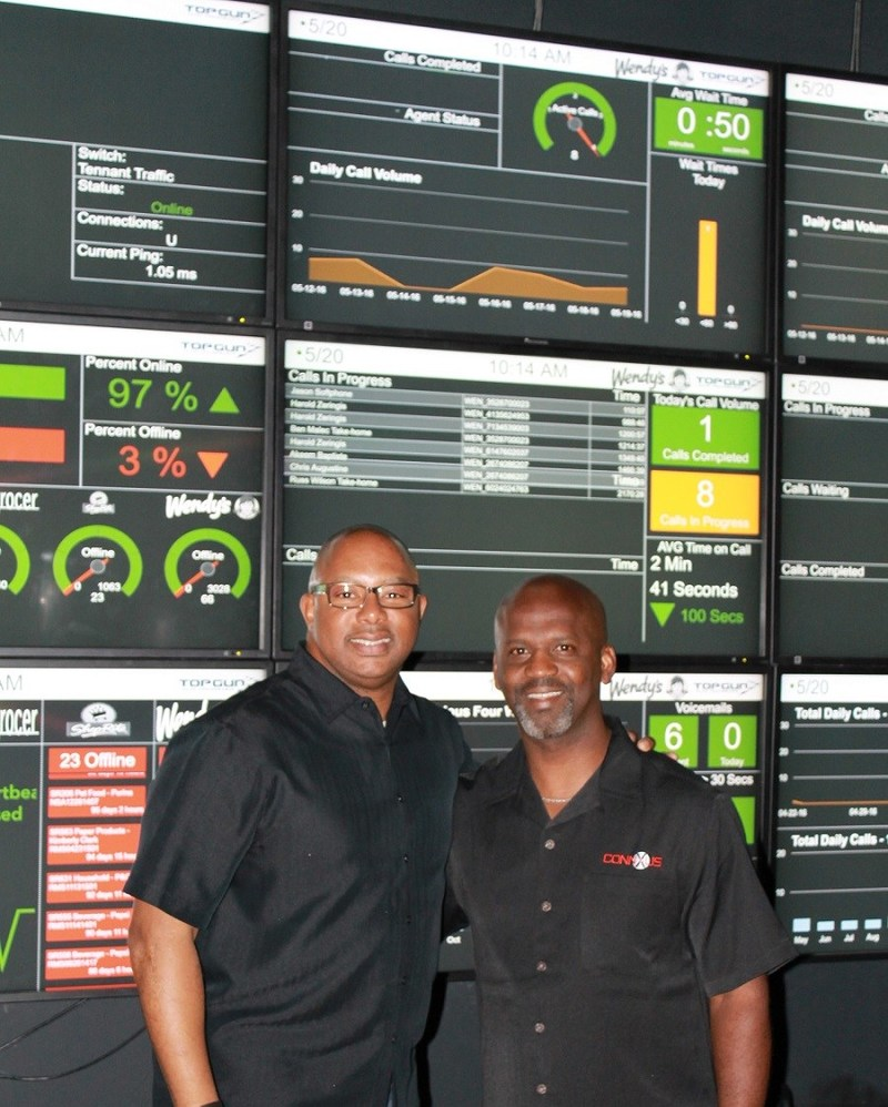 ConnXus chief operations officer and co-owner, Daryl Hammett (left) with founder and chief executive officer, Rod Robinson (right)