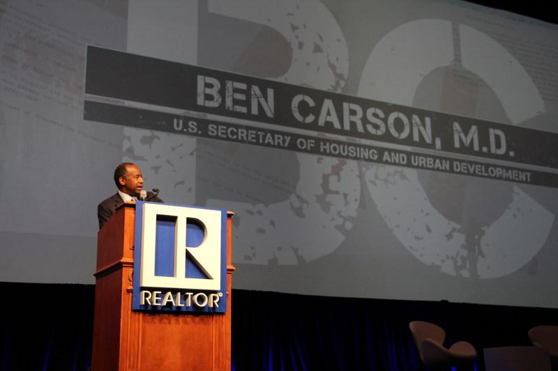 Dr. Ben Carson, secretary of Housing and Urban Development, addresses attendees at the REALTORS® Legislative Meetings & Trade Expo.