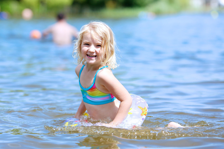 Be a water watcher.  Whether your children are in a backyard swimming pool, at a community center or swimming in a lake, always watch them. Swimming pools are the most common site for drowning among children 4 and under.