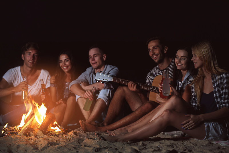 Always assume the fire is hot. A good rule of thumb is to stay away from a fire pit for 24 hours after use. Coals don't have to be glowing red to be hot and dangerous.