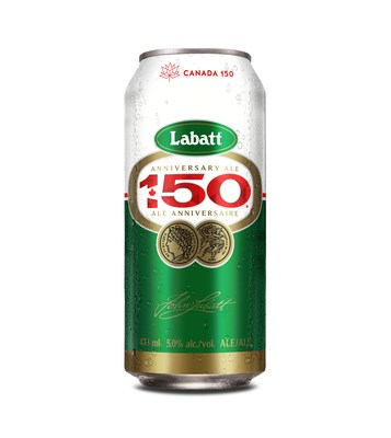 "Labatt 50 gets celebratory makeover to toast Canada's 150th: Introducing ""Labatt 150"" Ale (CNW Group/Labatt Breweries of Canada)"
