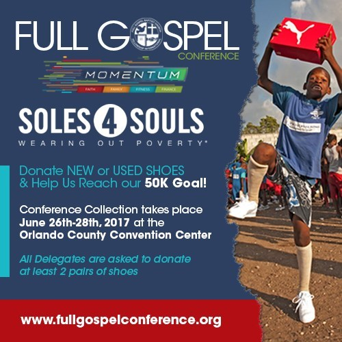 Soles4Souls and Full Gospel Baptist Church Fellowship Announce 50K Shoe Challenge In Fight Against Global Poverty