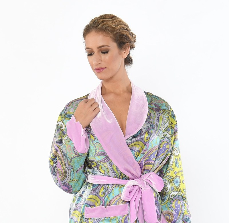 Paisley Haze Luxury Robe by SoffiaB