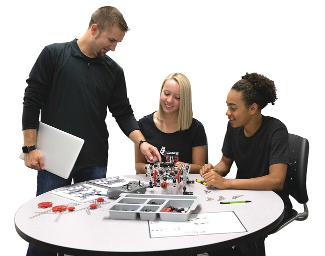 STEM Entrepreneurship involves development of students' design and creativity skills, such as those learned through exploration with TETRIX robotics from Pitsco Education.