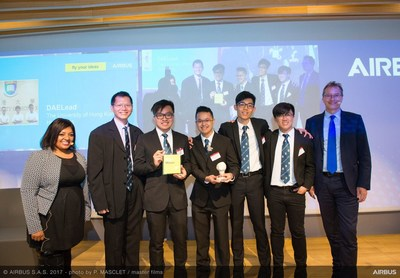 Airbus Fly Your Ideas 2017 Winners: Team DAELead from The University of Hong Kong (PRNewsfoto/Airbus)