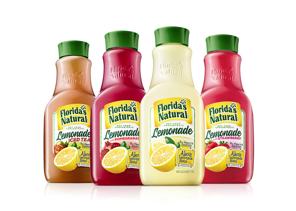 Florida's Natural Brand all-natural, not-from-concentrate lemonades