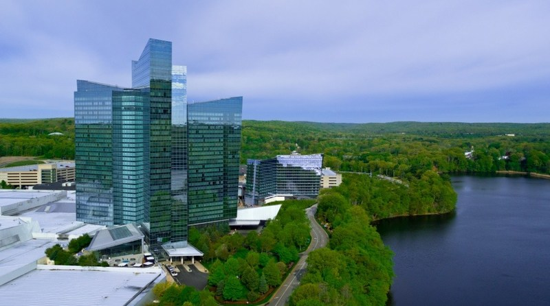 Mohegan Sun's Sky Tower and Earth Tower in Uncasville, CT