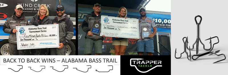 Trapper Tackle Pro Staffer, Candler McCollum, captures latest win using a 4/0 EWG Trapper Tackle Heavy Cover Hook with a Reaction Innovations Sweet Beaver and a ¾ and ½ ounce tungsten weight