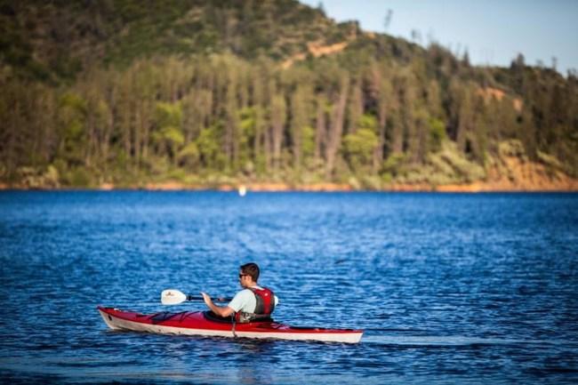 Kayak at Oaks Bottom near the town of Redding.