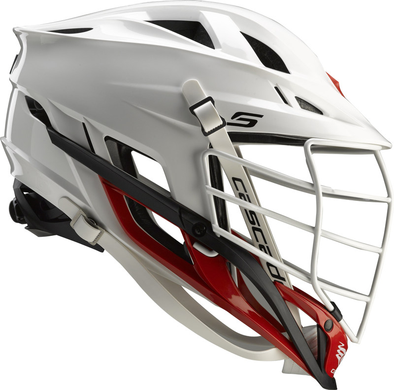 The Cascade S Helmet, the pinnacle of protection, comfort, and vision. The S incorporates several new, game-changing helmet technologies, including a new tri-liner integrated with the shell, new Xflo ventilation that more than doubles the breathability of previous helmets models, and a new Vision bar facemask that ensures the ball is never out of sight. Visit Cascadelacrosse.com for more info and videos featuring MLL players, and FactoryCustom.com for a full selection of options.