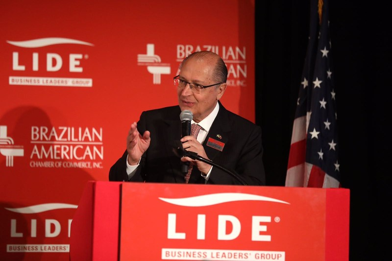 Geraldo Alckmin, Governor of the State of Sao Paulo, in the LIDE Brazilian Investment Forum, in New York (photo/release: Brazilian-American Chamber of Commerce)