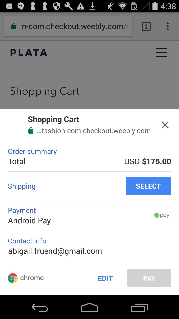 Payment options online store
