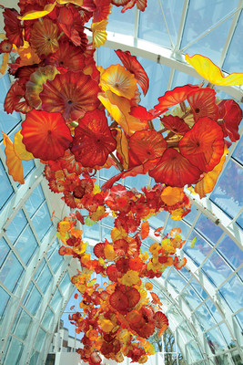The Glasshouse at Chihuly Garden and Glass.
