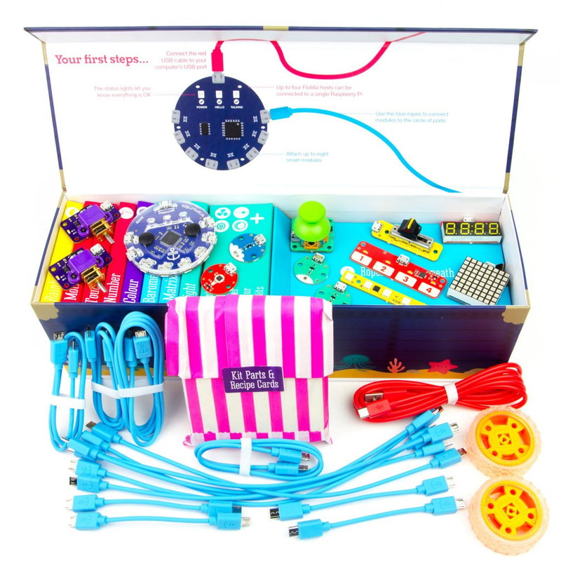 Pimoroni Flotilla Mega Treasure Chest Starter Kit