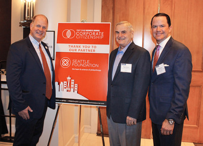 Photographed left to right: President of Inspirus Credit Union Scott Adkins, Board Member of Inspirus Credit Union Roger Reimer, and President of the Northwest Credit Union Association Troy Stang.