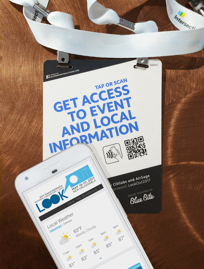 OAAA partnered with Blue Bite to develop conference badge with NFC technology that engages attendees with mobile experiences