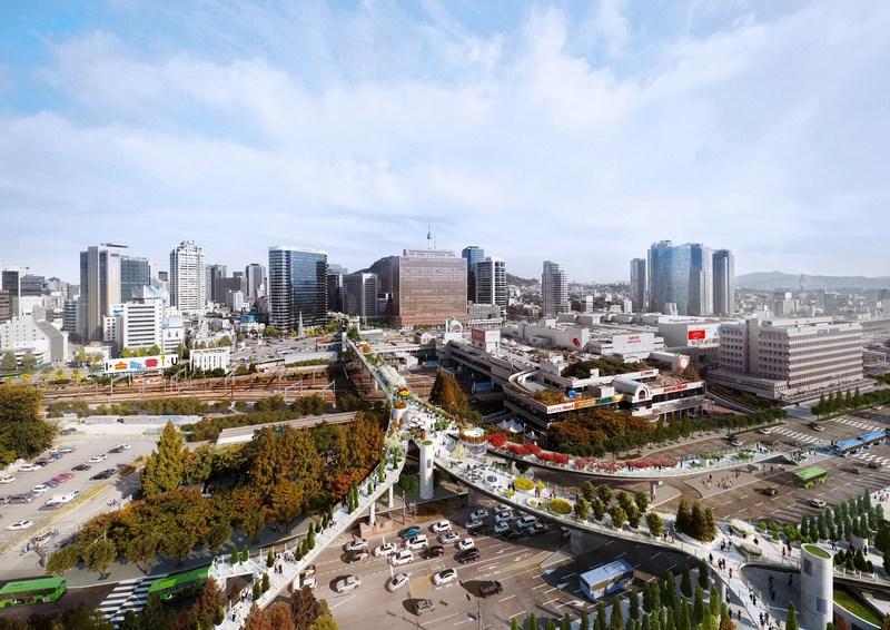 Panoramic view of Seoullo 7017