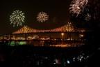 Spectacle d'inauguration du pont Jacques-Cartier @Martine Doyon (Groupe CNW/Société des célébrations du 375e anniversaire de Montréal)