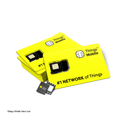 Sim card Mock-up_TM (PRNewsfoto/Things Mobile)
