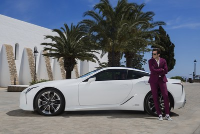 Lexus and Mark Ronson launch the LC at the ultimate driving experience in Ibiza (PRNewsfoto/Lexus Europe)