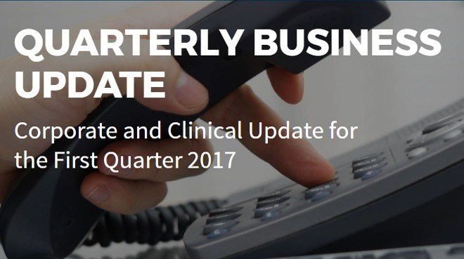 Quarter 2017 Business Update Conference Call and Webcast