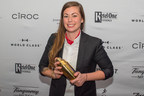 Diageo WORLD CLASS CANADA crowns Kaitlyn Stewart from Vancouver, British Columbia as its Bartender of the Year 2017. WORLD CLASS CANADA brings together some of the country's best bartenders to showcase the craft and elevation of the art of cocktail creation in an exciting bartending competition. (CNW Group/Diageo Canada)