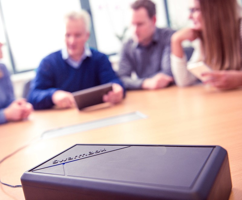 Using the SwarmBox, companies, meeting planners, facilitators, trainers and more can simply create their own interactive presentations, meetings, workshops and events in a very cost-effective way.