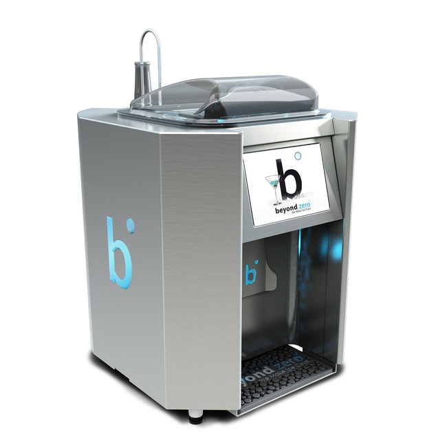 The Beyond Zero Ice System is the first to freeze liquor into ice, opening up new possibilities for the creation of signature drink cocktails.