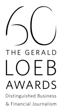 The 2017 Loeb Awards will celebrate the 60th Anniversary of Gerald Loeb's legacy, announce the 2017 competition winners and honor two career achievement recipients on Tuesday, June 27 at Capitale in New York City. http://www.theloebawards.com