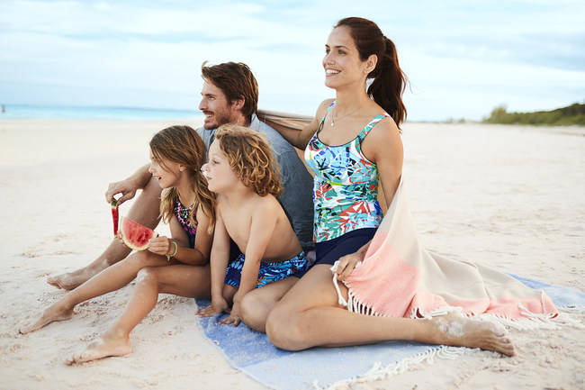 Memorial Day Weekend is the unofficial kick-off to summer, and to make sure everyone is ready for a fabulous day at the beach or pool, Lands' End has declared May 23, 2017 as National Swimsuit Day. This dedicated swimsuit shopping day is filled with great offers and advice from Lands' End to help everyone discover and receive – in time for Memorial Day Weekend – the best-fitting swimsuits and beach towels guaranteed to be the Best on the Beach. To learn more, visit www,landsend.com/swim. (PRNewsfoto/Lands' End, Inc.)