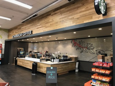 The remodeled Ralphs at 1730 West Manchester Boulevard in Los Angeles features a new in-store Starbucks cafe.