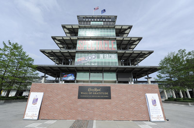 The Crown Royal Wall of Gratitude in Pagoda Plaza at the Indianapolis Motor Speedway, Thursday, May 18, 2017 (Doug McSchooler/AP Images for Crown Royal)