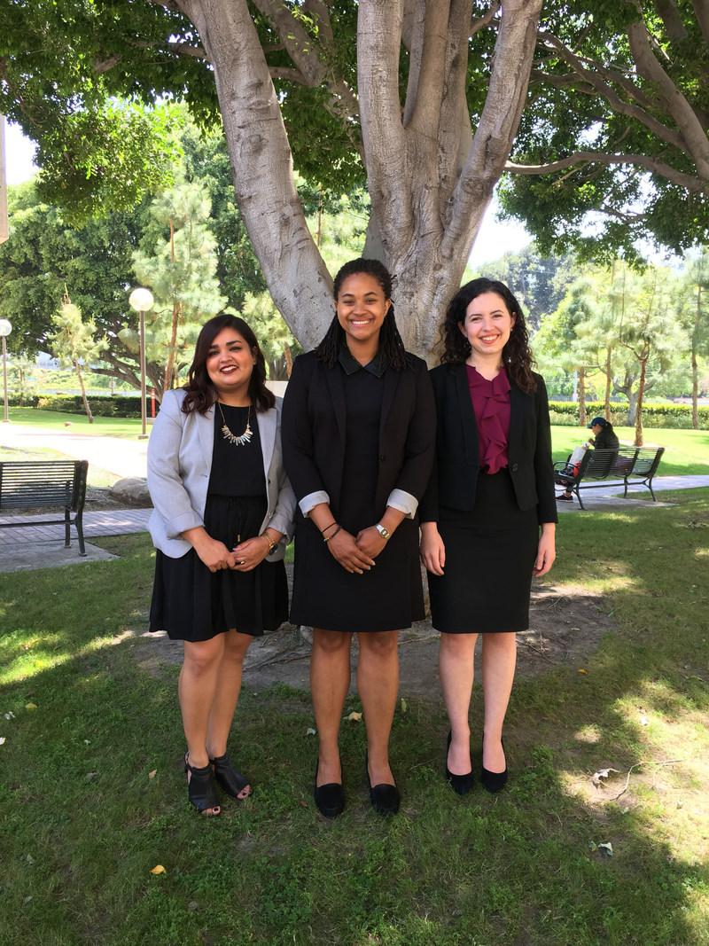 USC Gould graduates Sujata Awasthi (left), Shana Emile (middle), and Kelly McVey (right) were selected Clinton-Orfalea-Brittingham Fellows