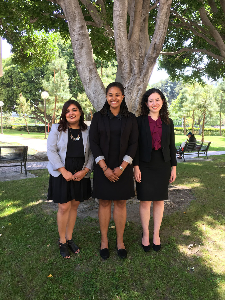 USC Gould graduates Sujata Awasthi (left), Shana Emile (middle), and Kelly McVey (right) were selected Clinton-Orfalea-Brittingham Fellows