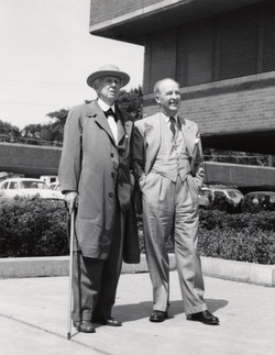 Frank Lloyd Wright and H.F. Johnson Jr.