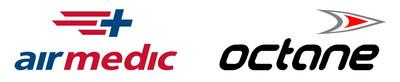 Logo : Airmedic, Logo : Octane (Groupe CNW/Airmedic)