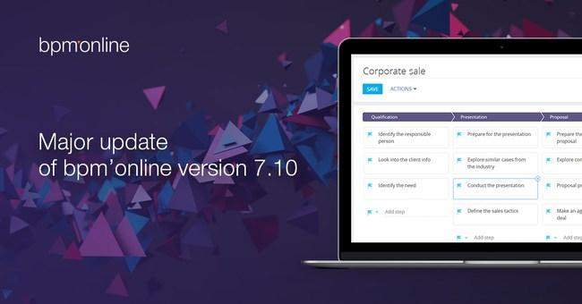 Major update of bpm'online version 7.10