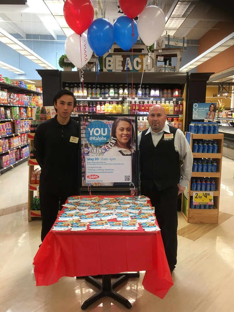 All Southern California Ralphs supermarkets will be holding hiring events this Saturday, May 20 from 11 a.m. to 4 p.m