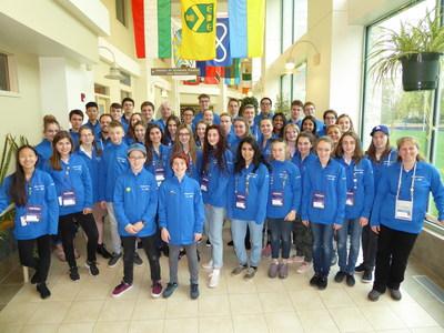 La délégation du Québec, parrainée par Merck Canada inc., à l'Expo-sciences pancanadienne à Regina en Saskatchewan. (Groupe CNW/Réseau Technoscience)