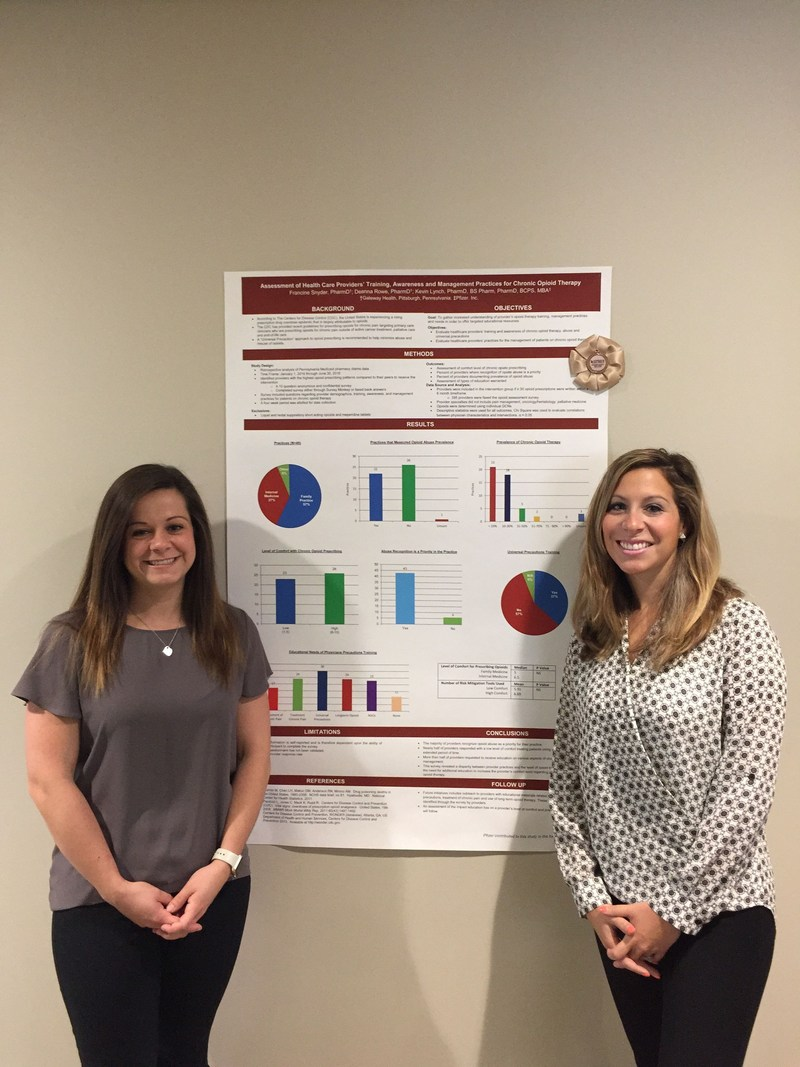 Photo from left to right: Presenters and Senior Pharmacists at Gateway Health: Deanna Rowe, PharmD., and Francine Snyder, PharmD.
