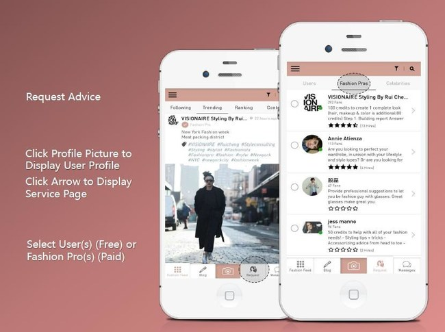 LAWO App - Request Advice from Fashion Pro (stylists) and Other Users