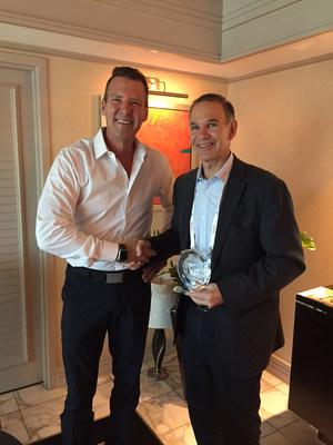 Jeff Thomson presents award to David Stein