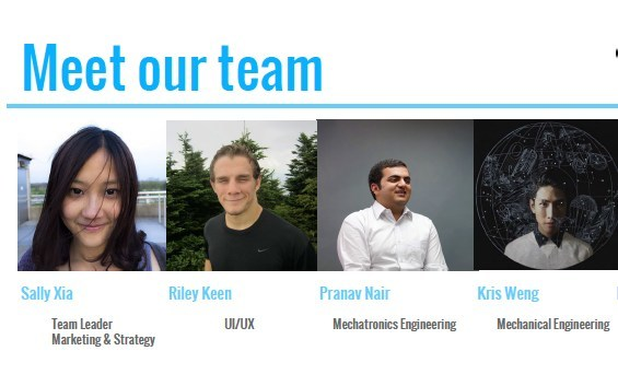 The multidisciplinary team of students included Sally Xia (Masters in Digital Media), Riley Keen (Masters in Industrial Design), Pranav Nair (Masters in Industrial and Product Design), and Kris Weng (Bachelor of Science in Mechanical Engineering.
