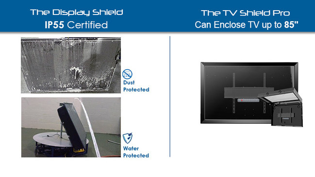 "Protective Enclosures Company Secures IP55 Rating and Now Houses an Industry-First 85"" TV or Display"
